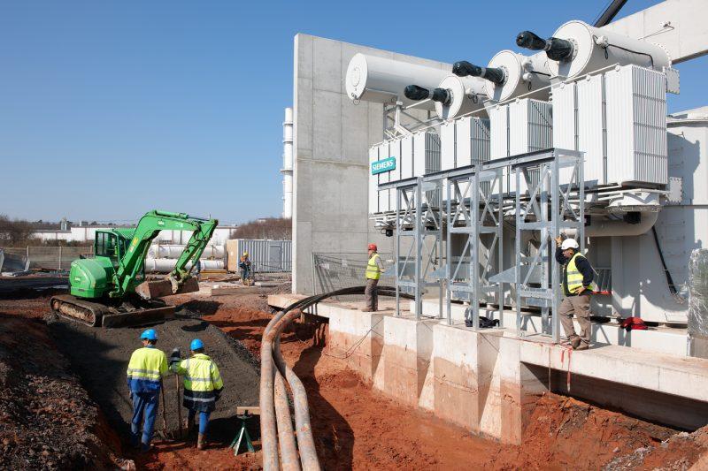 Raccordement d'une liaison souterraine sur un transformateur 225/63 kV